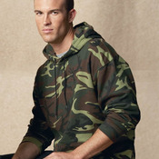 Camouflage Pullover Hooded Sweatshirt