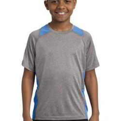 Youth Poly Heather Colorblock T-Shirt Thumbnail