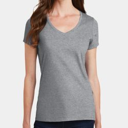 Ladies 4.5oz Fan Favorite V-Neck T-Shirt Thumbnail
