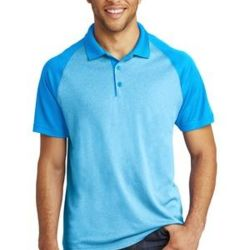 Adult RacerMesh Raglan Heather Block Polo Thumbnail